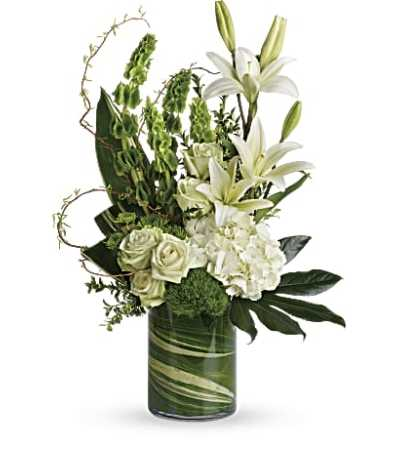 Botanical Beauty with White Roses