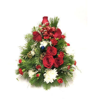 Christmas Tree made of Fresh noble, pine, and cedar