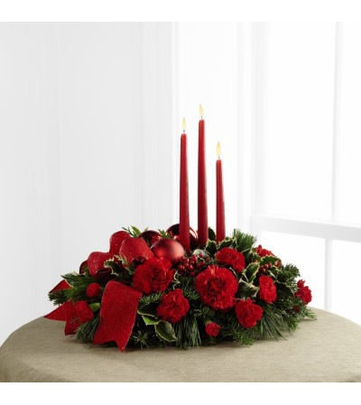 Holiday Centerpiece with Candles