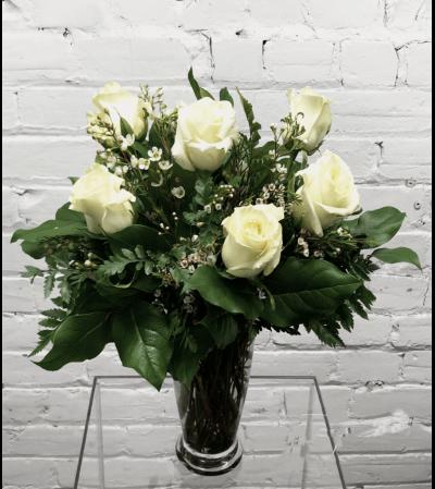White Roses-1/2 Dozen