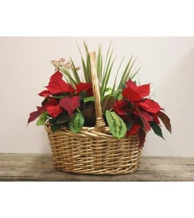 Christmas Willow Basket