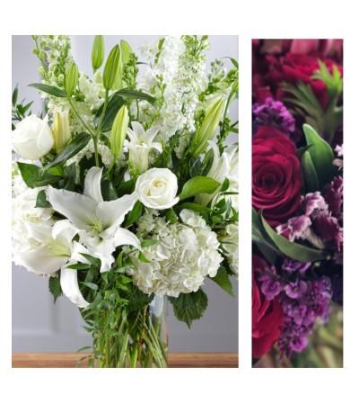 Jewel Tone-Large Vase Arrangement