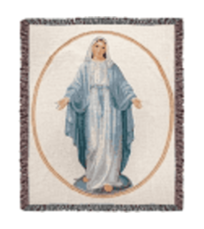 Virgin Mary Tapestry Throw