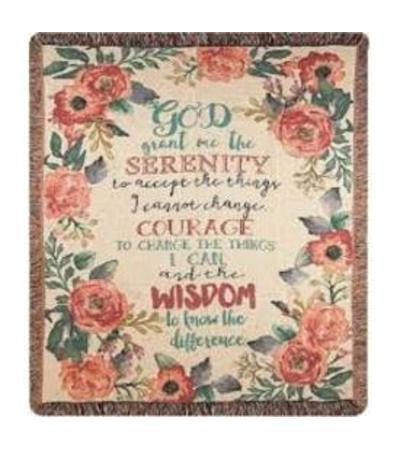 Serenity Prayer Throw 2