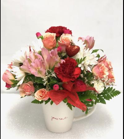 Valentine Love Mug Bouquet