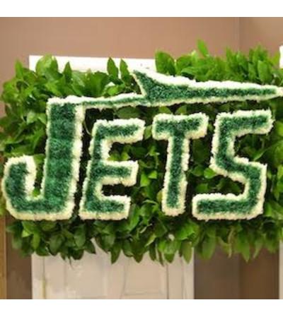 Funeral Custom NY Jets Logo Piece