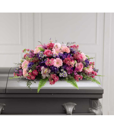 The FTD® Glorious Garden™ Casket Spray