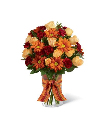 The FTD® Golden Autumn™ Ribbon Bouquet
