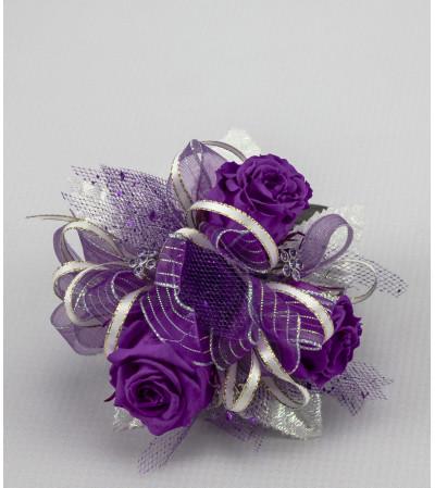 Keepsake Corsage - Preserved Purple Roses