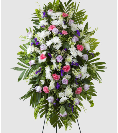 Lavender, Pink, and White Standing Spray