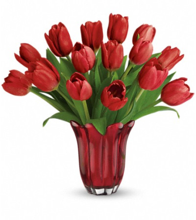 Teleflora's Kissed By Tulips Bouquet