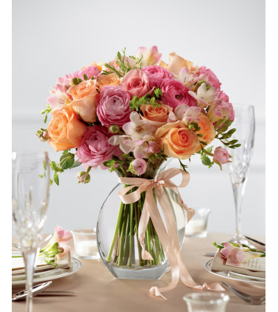 The FTD® Peach Silk™ Arrangement