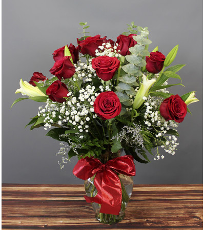 Deluxe Roses & Lilies