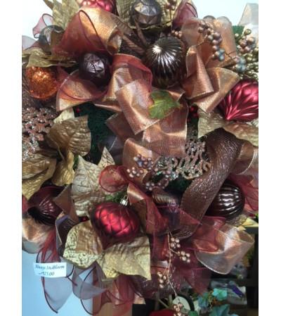 Fabulous in Metallics Wreath