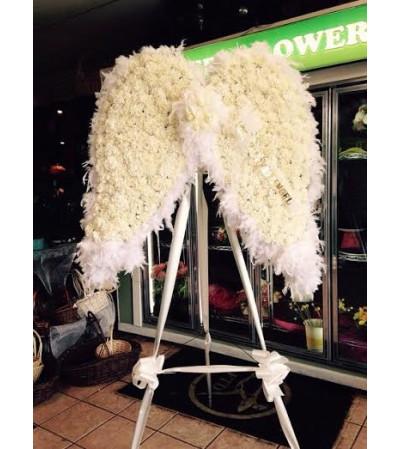 Funeral Custom Angel Wing Sympathy Piece