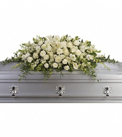 Serene and Peaceful Casket Spray