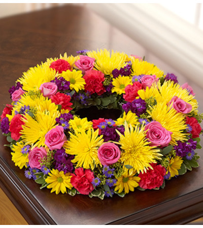 Cremation Wreath - Multicolor Bright