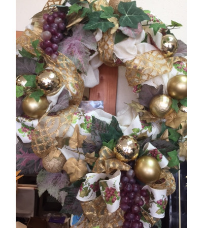 Gold and Grapes Wreath