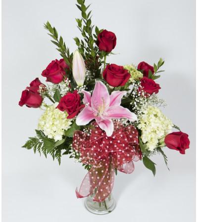 Bell Tower's Stunning Dozen Roses