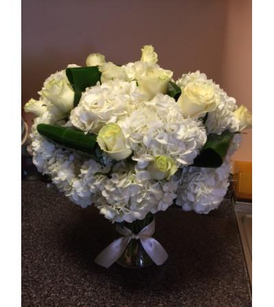 Arrangement in vase or hand tied