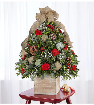 Cozy Cabin Holiday Flower Tree™