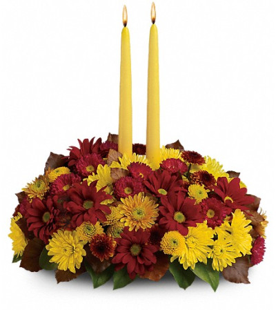 2 candle centerpiece