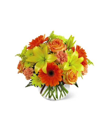 The FTD® Vibrant Views™ Bouquet in a Bubble Bowl