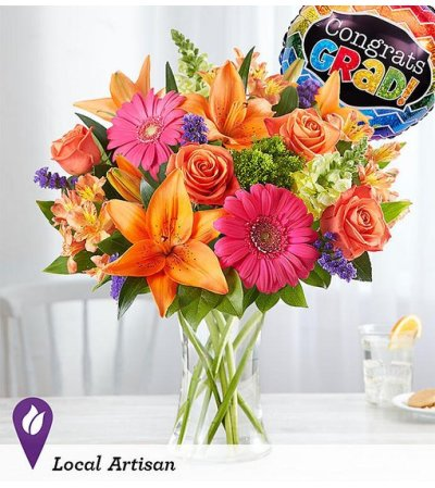 Vibrant Floral Medley™ for Graduation