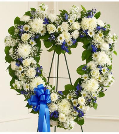 White Blue Standing Heart