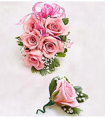 Boutonniere & Corsage Pink *PICK UP ONLY*