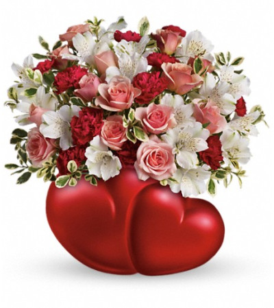 Teleflora's Twin Hearts Bouquet