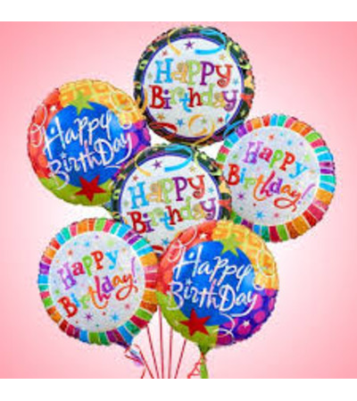 Birthday balloon bouquets