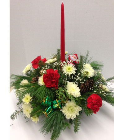 Merritts Single Candle centerpiece