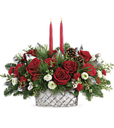 Teleflora's Merry Mercury Centerpiece