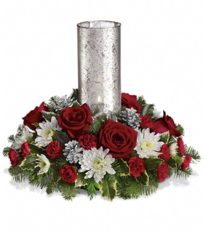 Let's Be Merry Centerpiece by Teleflora