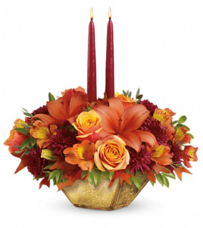 Teleflora's Harvest Gold Centerpiece