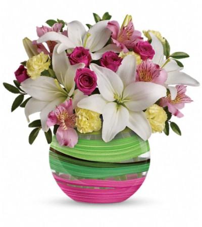 Teleflora's Paint It Pastel Bouquet