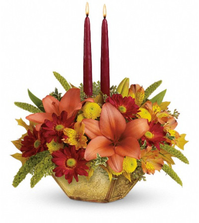 Teleflora's Autumn Reflections Centerpiece
