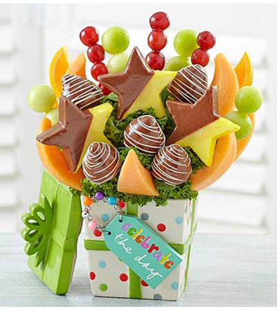 """Celebrate the Day"" Fruit with Chocolate"