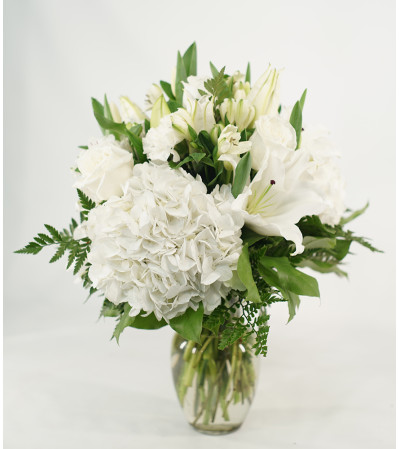 Sweet White Hydrangea Bouquet