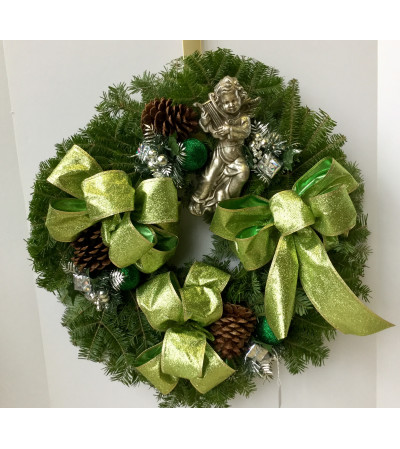 Wreath with cherub
