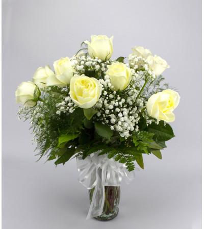 Classic (Medium) White Rose Arrangement