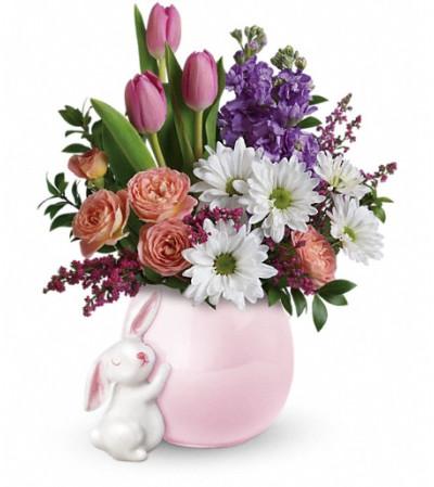 Teleflora's Send a Hug® Bunny Love Bouquet