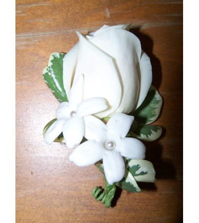 Calla Lily and Stephanotis Boutonniere
