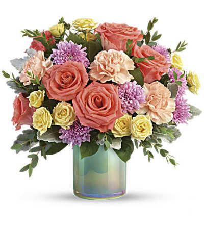 Teleflora's Pastel Shimmer Bouquet