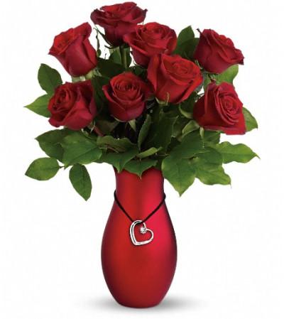 Passion's Heart Bouquet by Teleflora