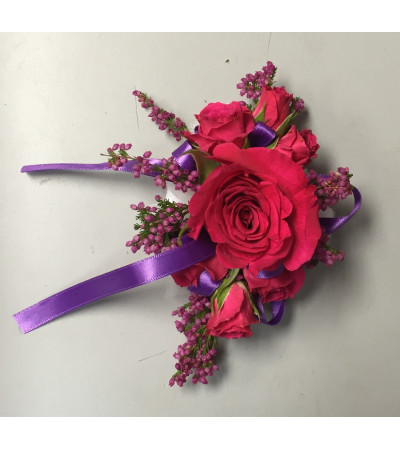 hot pink corsage