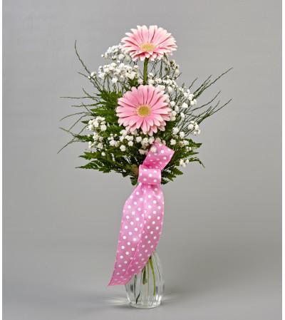 Pink Gerbera Bud Vase