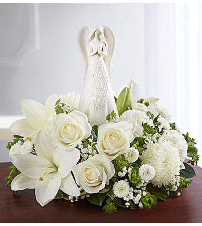 Peaceful Prayers™ Serenity Angel Arrangement All White
