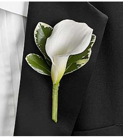 Mini White Calla Boutonniere *PICK UP ONLY*